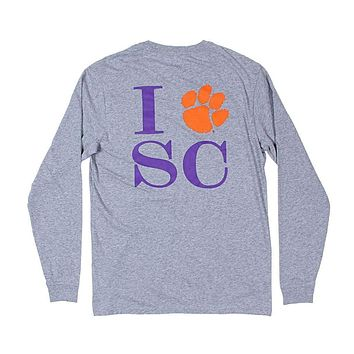 Long Sleeve Clemson T-Shirt by Southern Tide