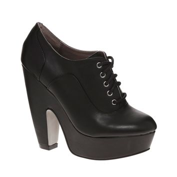 Shellys London Skuba Platform Black Lace Up Shoes