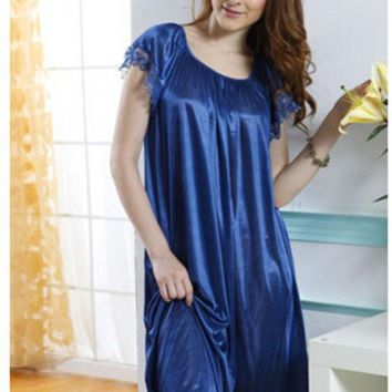 DCCKL3Z New 2015 Sexy Womens Casual Chemise Nightie Nightwear Lingerie Nightdress Sleepwear Dress free shipping