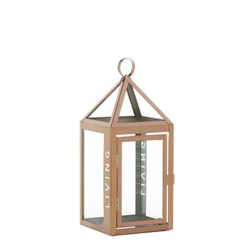 Metal Rose Metal Frame Living Candle Holder Lantern