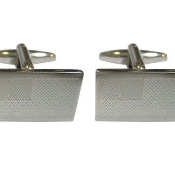 Silver Toned Etched Samoa Flag Cufflinks