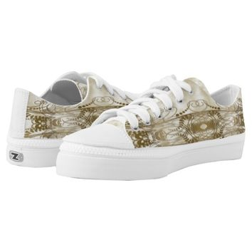 Golden Pillars Printed Shoes