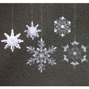 10PCS Fashion Christmas Festival Party Xmas Tree Ornament Snowflakes Decoration [9417381508]