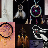Custom made cruelty free dreamcatchers