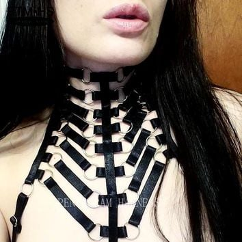 The Egyptian Neck Harness Garter Cage Bra