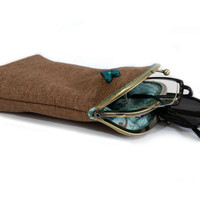 Double pockets glasses case