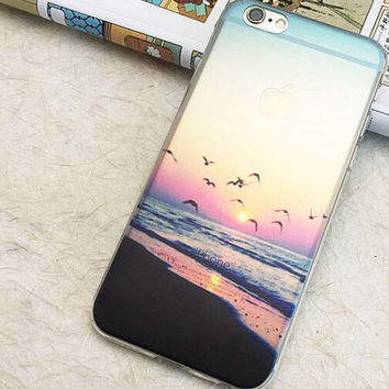 Sunset night mobile phone case for iphone 5 5s SE 6 6s 6 plus 6s plus + Nice gift box 072301