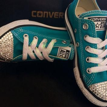 SALE Girls crystal converse-bling-girls swarovski converse-girls custom converse-girls