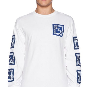 Born x Raised BXR Flag L/S Tee in White