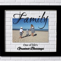 One of life's greatest blessings Family Floating Picture Frame