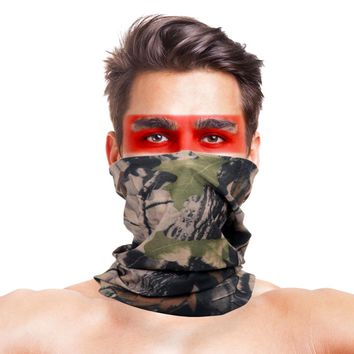 High-Jump Camouflage Hiking Scarves Bandana Men Women Bape Mask Tactical Outdoor Magic Headwear Camping Hiking Neck Warmer Scarf