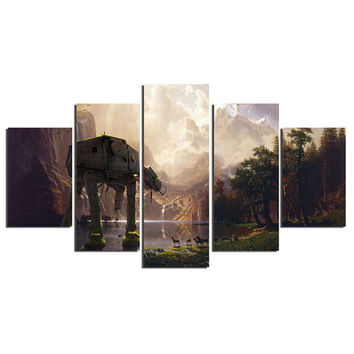 5 Panel Star Wars Canvas Wall Art