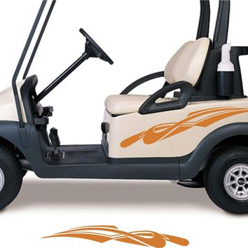 OLYMPIC BLUE COLOR Golf Cart Go Cart Stickers Graphics Decals Tribal Flames Stripes GC97
