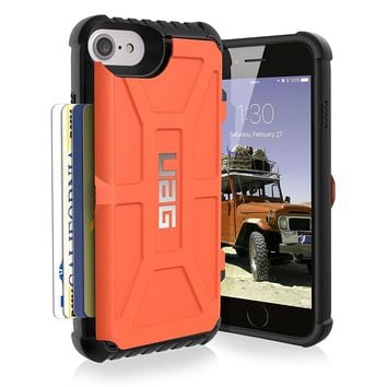 UAG iPhone 8 / iPhone 7 / iPhone 6s [4.7-inch screen] Trooper Feather-Light Rugged Card Case [RUST] Military Drop Tested iPhone Case