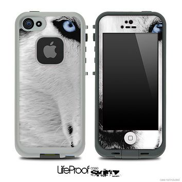 White Wolf Skin for the iPhone 5 or 4/4s LifeProof Case