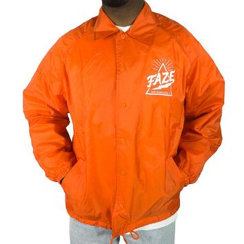There Goes the Hood Coach Jacket in orange