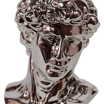 Majestic & Stylish Ceramic Man Bust In Silver