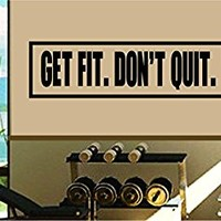 Dabbledown Get Fit Don't Quit Window Lettering Decal Sticker Decals Stickers
