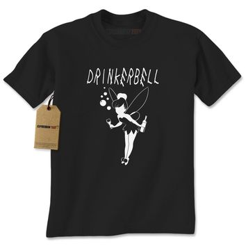 Drinkerbell Funny Drunk Fairy Mens T-shirt