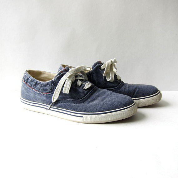 90s canvas tennis shoes ll bean shoes from morikovintage on