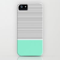 Minimal Mint Stripes iPhone & iPod Case by Allyson Johnson