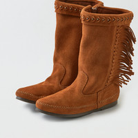 Minnetonka Luna Fringe Boot , Brown