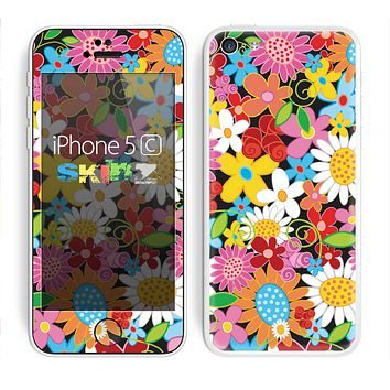 The Vibrant Vector Flower Petals Skin for the Apple iPhone 5c