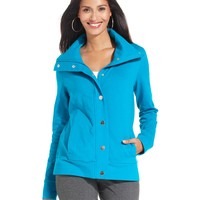Style&co. Sport Jacket, Stand-Collar Snap-Front Active - Women - Macy's