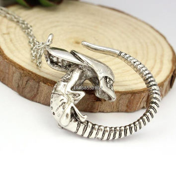 European and American horror movie alien pups crawlers monster necklace detonation