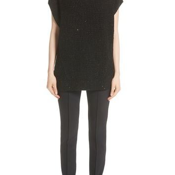 Lafayette 148 New York Metallic Wool, Silk & Cashmere Blend Sweater (Nordstrom Exclusive) | Nordstrom