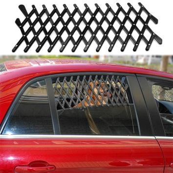 Universal Car Window Travel Vent Pet Dog Puppy Ventilation Grill Mesh Vent Guard Black
