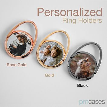 Personalized Rotating Metal Phone Ring