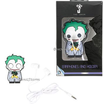 Licensed cool DC  The JOKER Googly Eye Earbuds Head Phones And Holder New in Gift Box