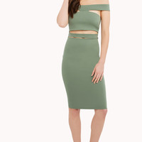 Cut Out Dress- Olive