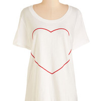 MNKR Mid-length Short Sleeves Your Heart's Content Tee