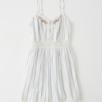 Womens Lace Pieced Skater Dress | Womens Dresses & Rompers | Abercrombie.com