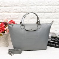 Longchamp Women's Nylon 1623 Foldable Tote Bag - Gray Color