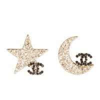 Pair of CHANEL Star and Moon Earrings