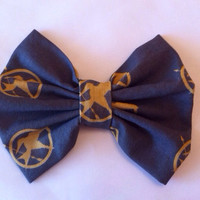 Hunger Games Inspired Mockingjay Medium Sized Fabric Hair Bow