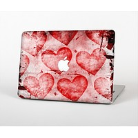 """The Grunge Dark & Light Red Hearts Skin for the Apple MacBook Air 13"""""""