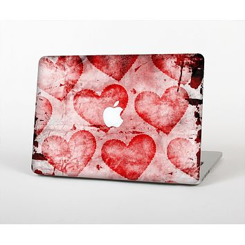The Grunge Dark & Light Red Hearts Skin for the Apple MacBook Air 13""