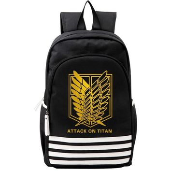 Cool Attack on Titan  Shoulder Bag Japan Anime Men Women Backpack Bookbag Mochila for School Teenagers AT_90_11
