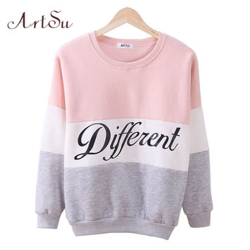 2016 Autumn and winter women fleeve hoodies printed letters tracksuit for women's casual sweatshirt hoody sudaderas EPHO80027