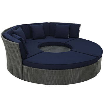 Sojourn Outdoor Patio Daybed Sunbrella Canvas Navy