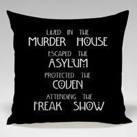 American Horror Story Housewares Square Pillow Case Custom Zippered Pillow Case one side and two side