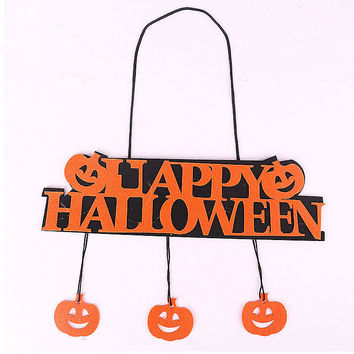 Halloween Pumpkin Pendant Door Decor