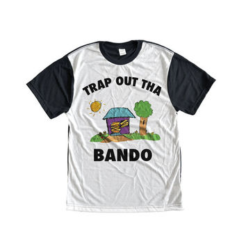 BANDO TRAP HOUSE based trap trill soft ghetto gangster kawaii grunge t-shirt