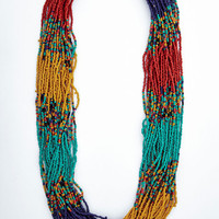ModCloth Boho Couldn't Bead More Colorful Necklace