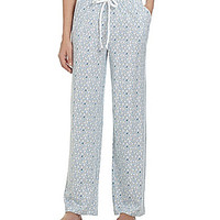 Sleep Sense Petites Printed Pajama Pants - Grey