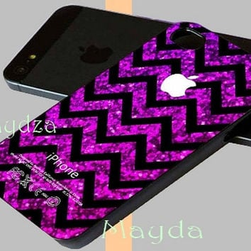 Chevron Purple Sparkle (Not Real Glitter) for iphone case, iphone 4 case, iphone 5 case, samsung galaxy, galaxy s4 case, Galaxy S3 Case